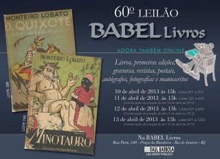 BABEL LIVROS - LEILÃO DE LIVROS E DOCUMENTOS RAROS
