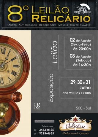 8º LEILÃO DE ARTE, ANTIGUIDADES, DECORAÇÕES, MÓVEIS E COLECIONÁVEIS