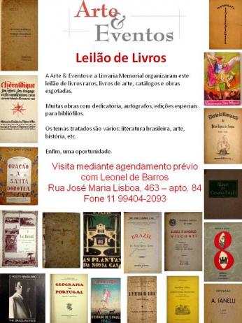 LEILÃO DE LIVROS Nº 3