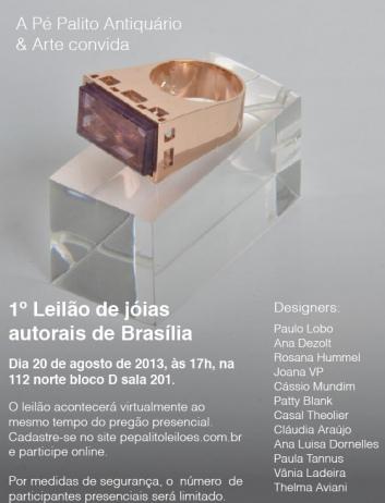 1º LEILÃO DE JÓIAS AUTORAIS DE BRASILIA