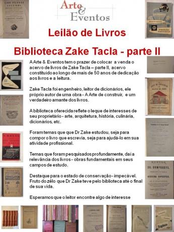 LEILÃO DE LIVROS - Biblioteca Zake Tacla - parte II