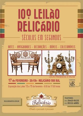 10º LEILÃO RELICÁRIO - BRASÍLIA