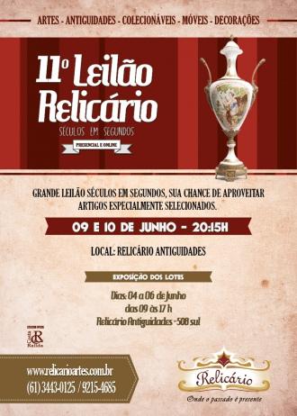 11º LEILÃO RELICÁRIO - SÉCULOS EM SEGUNDOS