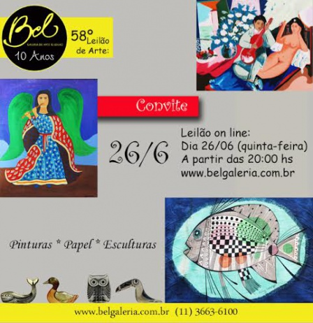 58º Leilão de Arte  BEL GALERIA