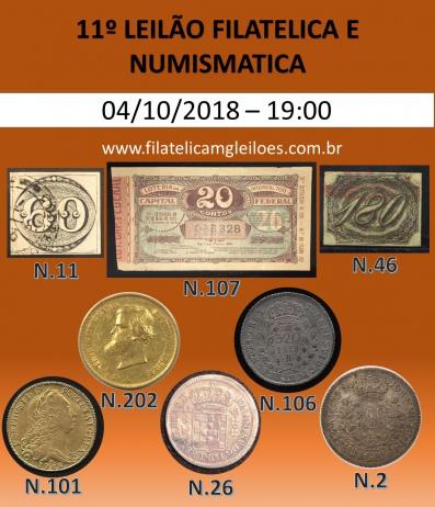 11º Leilão de Filatelia e Numismática Filatélica MG Leilões