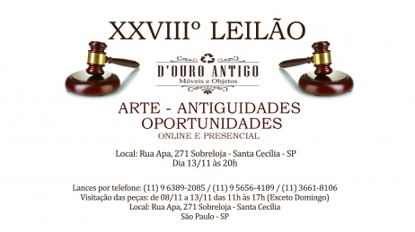XXVIIº Leilão de Arte - Antiguidades - Oportunidades
