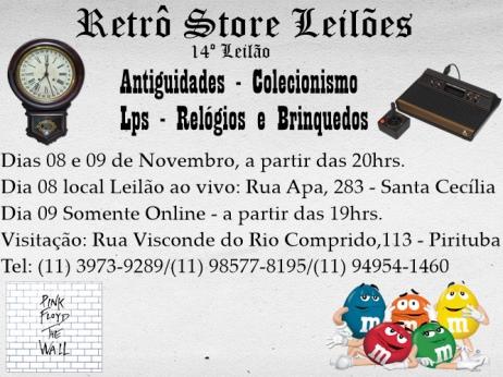 14º Leilão de Antiguidades, Colecionismo, Lps, Relógios e Brinquedos