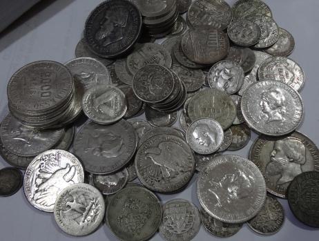 Leilão de moedas de prata