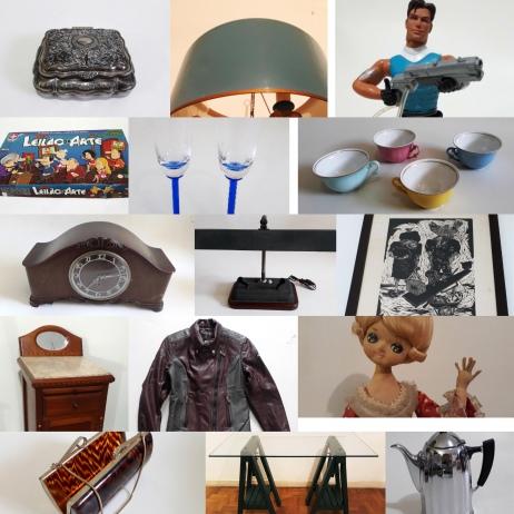 LEILÃO FAMÍLIA VENDE 1ª PARTE (Arte, Pequenos Móveis, Objetos Diversos, Brinquedos e Roupas).