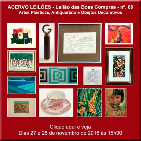 LEILÃO DAS BOAS COMPRAS nº 69 - ACERVO LEILÕES - SP - 27 e  28 /11/2018