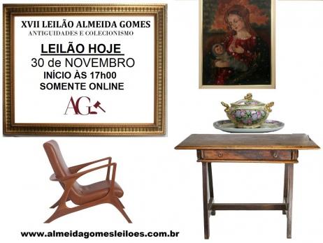 XVII LEILÃO ALMEIDA GOMES - ANTIGUIDADES, DECORAÇÃO e COLECIONISMO