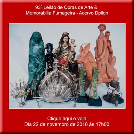 93º Leilão de Obras de Arte & Memorabilia Fumageira - 22 de Novembro às 17h