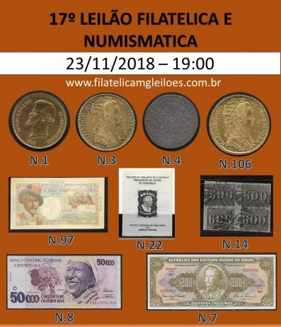 17º Leilão de Filatelia e Numismática Filatélica MG Leilões