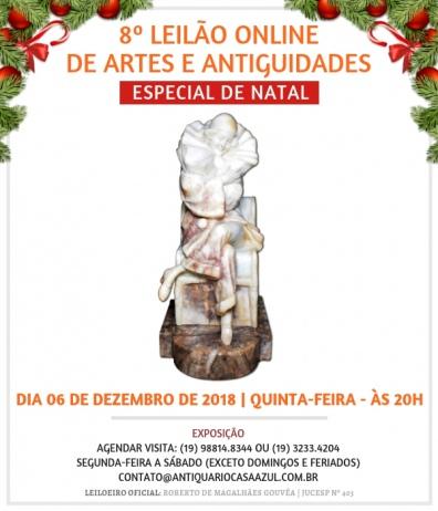 8º. LEILÃO DE ARTES E ANTIGUIDADES - 06/12/2018 - 20h00