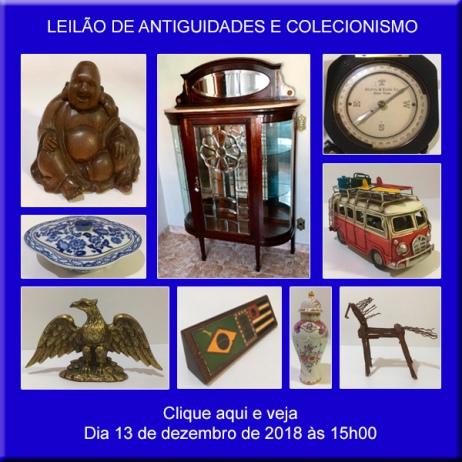 Leilão de Antiguidades e Colecionismo - 13/12/2018