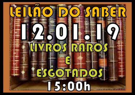 Leilão do Saber, Livros Raros e Esgotados