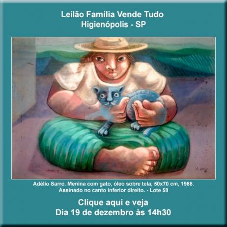 Leilão Família Vende Tudo - Higienópolis - 19/12/2018 - 14h30