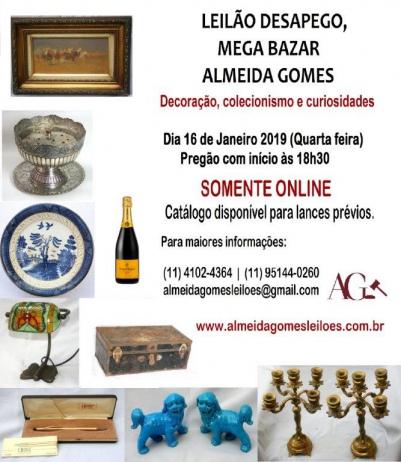 LEILÃO DESAPEGO E MEGA BAZAR - ALMEIDA GOMES
