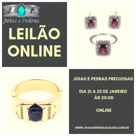 1 Leilao Joias e Pedras Preciosas 2019 - FRETE GRATIS