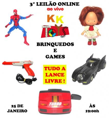LEILÃO KK TOYS - BRINQUEDOS E GAMES