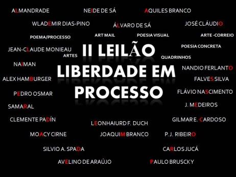 2º LEILÃO LIBERDADE EM PROCESSO - POEMA/ PROCESSO - ARTE POSTAL - PERIÓDICOS - ARTE & OUTROS