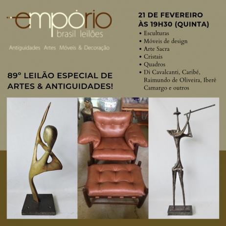 89º Leilão Especial de Artes & Antiguidades!!!