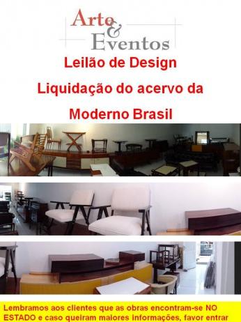 LEILÃO DE DESIGN - LIQUIDAÇÃO MODERNO BRASIL