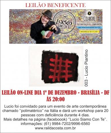 LEILÃO BENEFICENTE - LÚCIO SIAMO CON TE