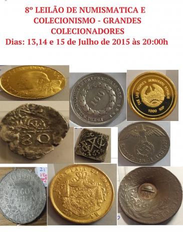 8º LEILÃO DE NUMISMATICA E COLECIONISMO - GRANDES COLECIONADORES