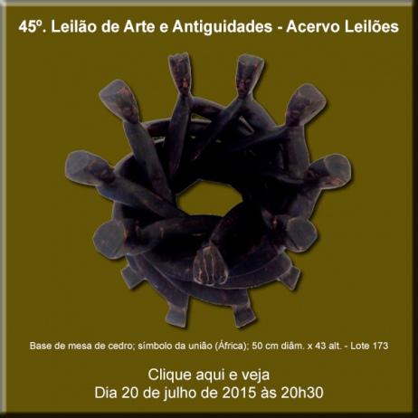 45º Leilão de Arte - Acervo Leilões - 20/07/2015
