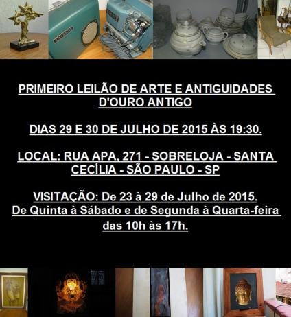 PRIMEIRO LEILÃO DE ARTE E ANTIGUIDADES DOURO ANTIGO
