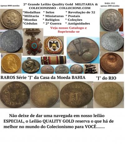 2º LEILÃO QUALITY GOLD DE COLECIONISMO E MILITARIA COLLECIONE.COM