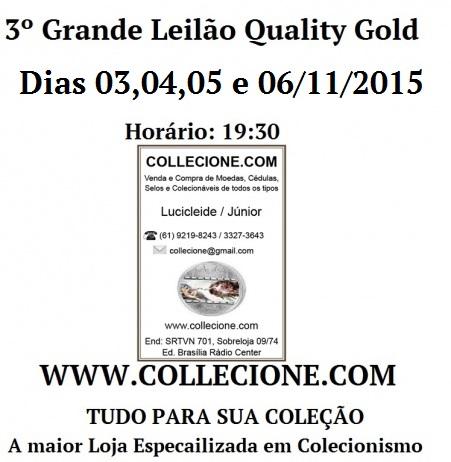 3º Grande Leilão QUALITY GOLD - COLLECIONE.COM