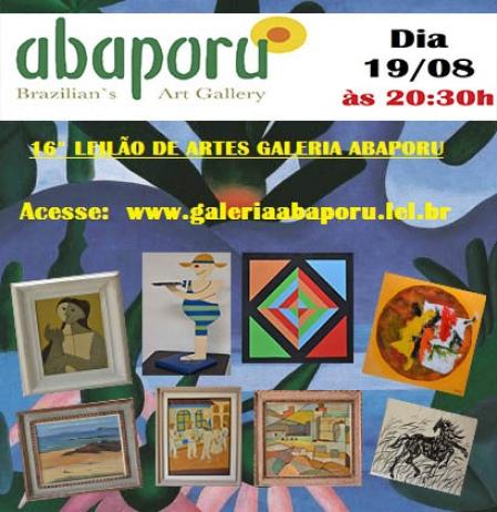 16º LEILÃO DA GALERIA ABAPORU - 19/08/2015