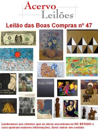 LEILÃO DAS BOAS COMPRAS nº 47 - 6/10/2015
