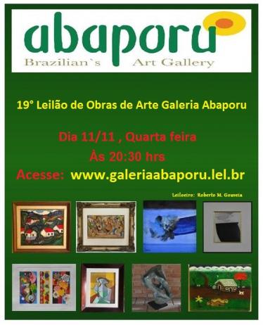 19º LEILÃO DA GALERIA ABAPORU