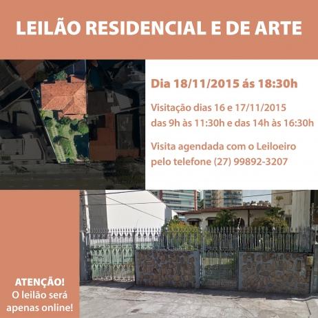 LEILÃO RESIDENCIAL E DE ARTE