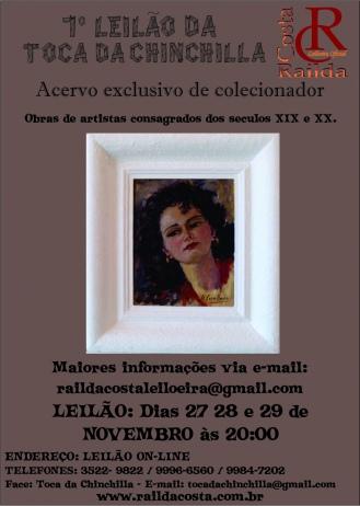 7º LEILÃO TOCA DA CHINCHILLA - Acervo exclusivo de colecionador particular de Brasília.
