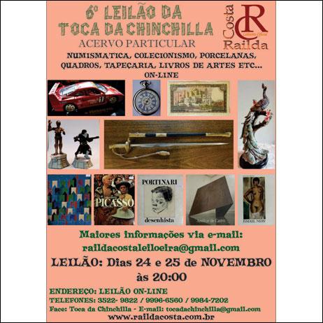 6º LEILÃO TOCA DA CHINCHILLA - ACERVO PARTICULAR
