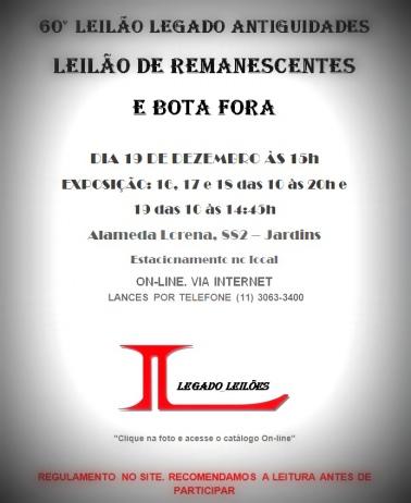 60 LEILÃO DE REMANESCENTES E BOTA FORA DE DEZEMBRO DE 2015