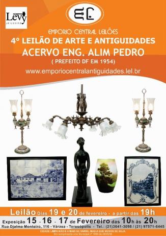 4 LEILÃO DE ARTE E ANTIGUIDADES - ACERVO ENG. ALIM PEDRO( PREFEITO DF EM  1954)- (21) 3641-3098