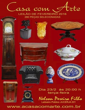 LEILÃO CASA COM ARTE - FEVEREIRO 2016