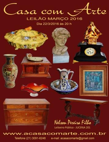 LEILÃO CASA COM ARTE - MARÇO 2016