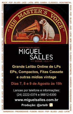 Grande Leilão de LPS e Mídias Vintage - Miguel Salles Escritório de Arte
