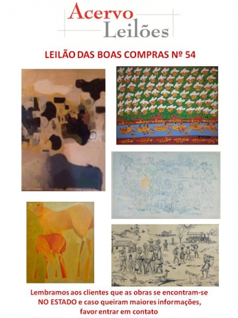 LEILÃO DAS BOAS COMPRAS nº 54 - 09/03/2016