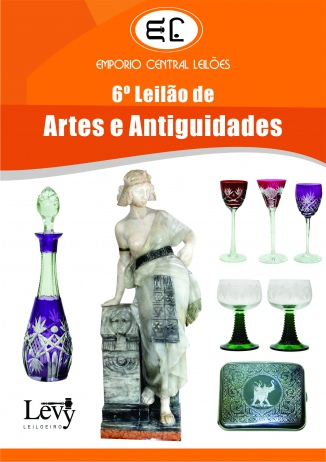 VI LEILÃO DA EMPÓRIO CENTRAL LEILÕES DE ARTES E ANTIGUIDADES - Maio 2016