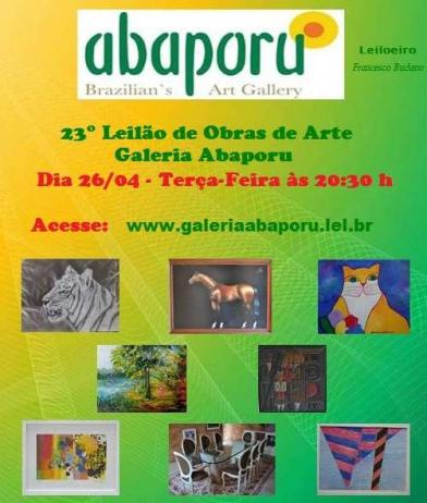 23º LEILÃO DA GALERIA ABAPORU