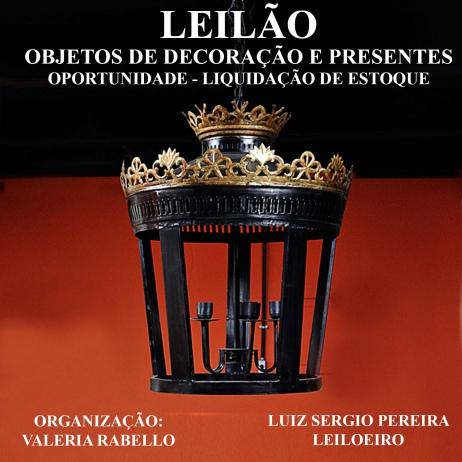 LEILÃO DE OBJETOS DE DECORAÇÃO E PRESENTES - OPORTUNIDADE - LIQUIDAÇÃO DE ESTOQUE 2