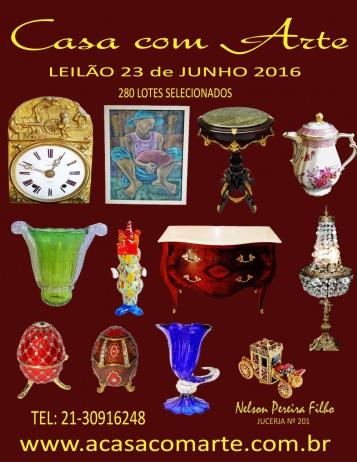 LEILÃO CASA COM ARTE - JUNHO 2016