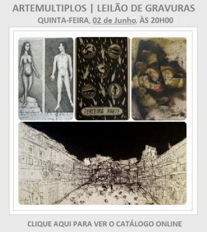 Leilão de Gravuras ARTEMULTIPLOS - 02/06/2016
